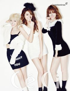 AOA's Jimin, ChoA, and Seolhyun are channeling their inner sexy cats once again -- this time for a photo shoot with 'CeCi' magazine! South Korean Girls, Korean Girl Groups, Brown Eyed Girls, Popular Girl, Fnc Entertainment, Seolhyun, Girl Bands, Fashion Shoot, K Idols