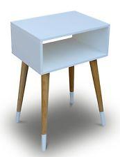 Telefontisch Holz Weiß Nachtschrank Nachttisch Beistelltisch Schränckchen Retro