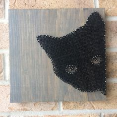 A personal favorite from my Etsy shop https://www.etsy.com/ca/listing/564989362/string-art-black-cat-simple-peeking-grey
