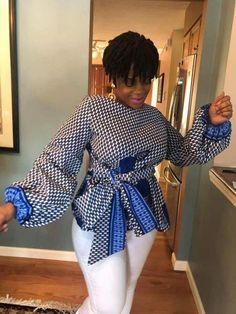 Fabulous Ankara Styles For Modern The Woman - Loud In Naija African Maxi Dresses, Latest African Fashion Dresses, African Attire, African Wear, Ankara Fashion, African Print Peplum Top, Ankara Peplum Tops, African Print Fashion, African Blouses