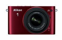 Nikon 1 J3 14.2 MP HD Digital Camera System with 10-30mm VR and 30-110mm VR 1 NIKKOR Lenses (Red), Best Gadgets
