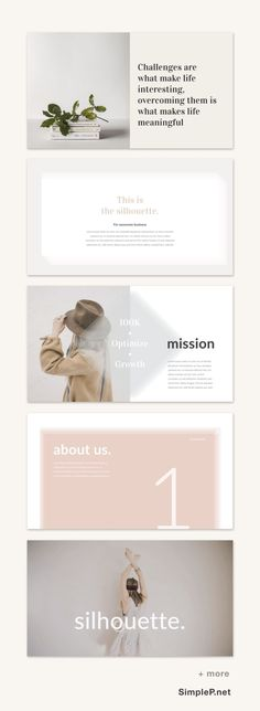 Silhouette Powerpoint Presentation Template #simple #minimal #minimalist #ppt #pptx #presentation #template #quote #mission #about #simplep #business #annual #planning