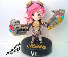 League of Legend Vi polymer clay by yuisama.deviantart.com on @deviantART