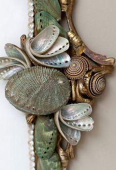 California Artist Marjorie Stafford - mirror detail