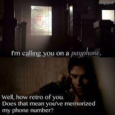 "Damon Salvatore (Ian Somerhalder) and Elena Gilbert (Nina Dobrev) - ""The Vampire Diaries"""