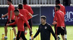 Atletico Madrid manager Diego Simeone says that hard work, pressure and counter-attacking are the keys to their success.