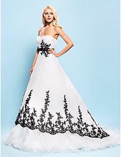 lanting mariée robe de bal de mariage petite / grande taille de train robe…