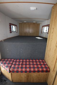 Bench.... DIY LQ Horse Trailer Conversion | Horse Trailer