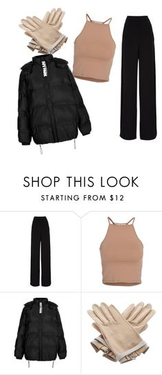 """""""...."""" by datgurldoe ❤ liked on Polyvore featuring Rochas, NLY Trend, Topshop and Hermès"""