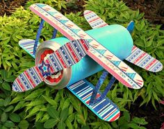 4th-of-july-biplane: party favor or decoration to make with the kids