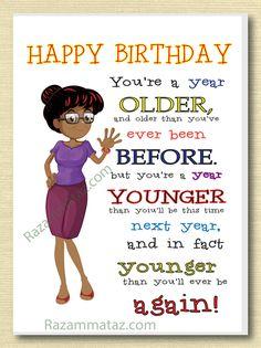 African American Female Birthday Card A