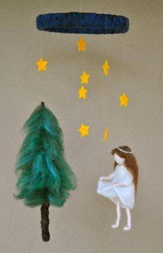 Waldorf Geïnspireerd naald vilten pop mobiel: The Star geld