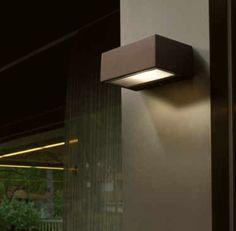 Encastr mural led 2 4w ext rieur rectangle alu clairage for Luminaire exterieur mural design