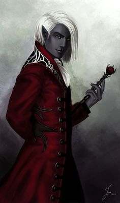 Drow noble by Iara // character inspiration for Victor