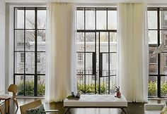 •	Aluminium window frames: these are light, sustainable, sturdy and easy to clean and maintain. They also have a very modern and neat look to them that can complement most homes.