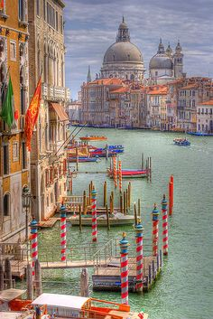 The Grand Canal in Venice, Italy.