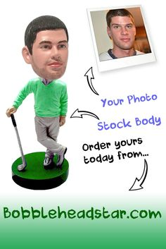 Golf Gift Bobble Head for Guys.