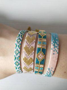 Bead Embroidery Jewelry, Beaded Embroidery, Bead Loom Patterns, Loom Beading, Beadwork, Jewelry Ideas, Naked, Bangles, Jewels