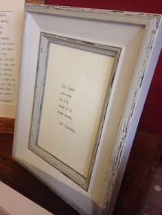 Vintage distressed effect frame with hand-typed Ed Sheeran lyrics OR quote of your choice
