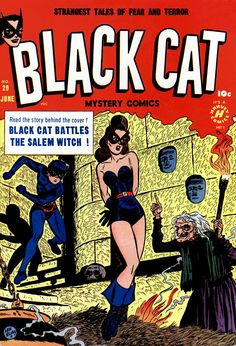 A cover gallery for the comic book Black Cat Vintage Comic Books, Vintage Comics, Comic Books Art, Comic Art, Old Comics, Cute Comics, Black Cat Comics, Pulp Fiction Comics, Comic Kunst
