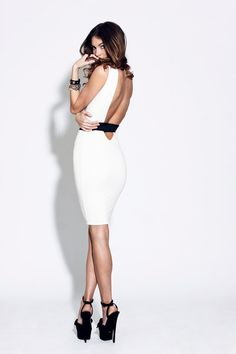 VANESSA - Backless Cut Out Shift Dress...love the sophistication...yet, sexiness :)
