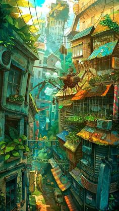 36 ideas for digital art landscape anime scenery Fantasy Artwork, Fantasy Concept Art, Fantasy Art Landscapes, Fantasy Landscape, Landscape Art, Anime Art Fantasy, City Art, Whatsapp Background, Arte 8 Bits