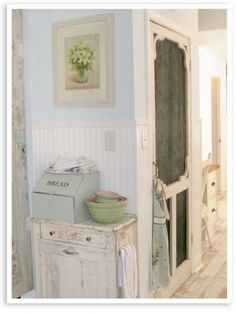 """Another pinner wrote, """"Build on a pantry or closet and make it interesting with an old screen door."""" decor, idea, inspiration, pantri, old screen doors, bread boxes, kitchen, farmhous style, french chic"""
