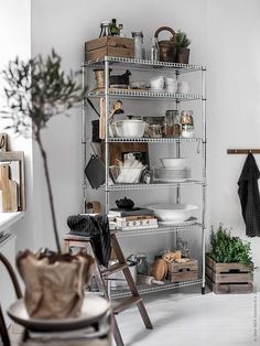 how to style wire shelves for a living space and kitchen design rh pinterest com