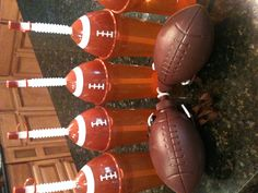 Found these at the Dollar Tree--perfect for C's football party. I will add names and Geaux Tigers with vinyl :0)