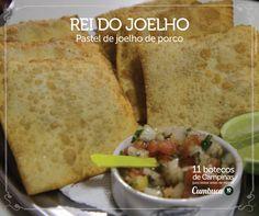 Rei do Joelho - Pastel de joelho de porco    11 botecos para visitar antes de morrer do Cumbuca  http://www.cumbuca.com.br/melhores-bares-e-botecos-de-campinas/