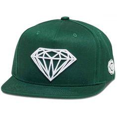 7673174b893 KŠILTOVKA DIAMOND BRILLIANT - tmavě zelená (GRN) - univerzální Snapback