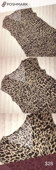 Apt 9 Animal Print Dress Apt 9 Animal Print Dress Apt.9 Dresses Midi