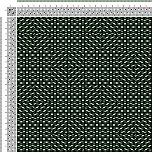 Drawdown Image: Plate No. 8 Weave No. 34, A Treatise on Designing and Weaving Plain and Fancy Woolen Cloths, A. A. Baldwin, 6S, 6T