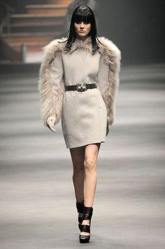 Lanvin Fall 2010 fur dress