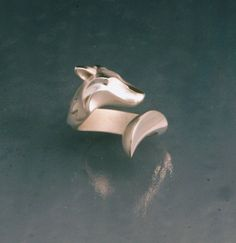 Hey, I found this really awesome Etsy listing at https://www.etsy.com/listing/229113575/timber-wolf-ring-silver