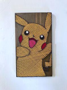 Pikachu string art for the Pokémon fan. Available now on my Etsy shop, Naileditca.