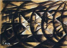 Speed Of A Motorcycle (study)   Giacomo Balla