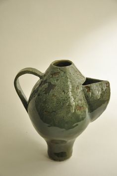 Unique Egg Shaped teapot. ceramic beautiful abstract by Dandiwer