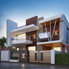 What do you think about these design. Luxurious residential design available for you. Modern Bungalow House Design, Modern Small House Design, Modern Exterior House Designs, Modern House Facades, Duplex House Design, Modern House Plans, Modern Architecture, Modern Bungalow Exterior, Architecture Interiors