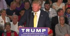 """Republican presidential candidate Donald Trump is being criticized for his response to a question about Muslim and their """"training camps,"""" asked during a town hall event in New Hampshire on Thursday. (Image: Screenshot)"""