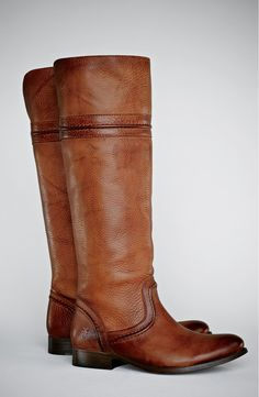 frye melissa trapunto boot. The leather looks to have a lovely textured grain.