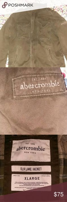 💥NEW💥ABERCROMBIE ANF FITCH ELK LAKE JACKET New , the tag came off but the plastic thay holds the tag is still in place. Abercrombie & Fitch Jackets & Coats