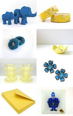 Blue and Yellow by Cynthia Sillitoe on Etsy--Pinned with TreasuryPin.com