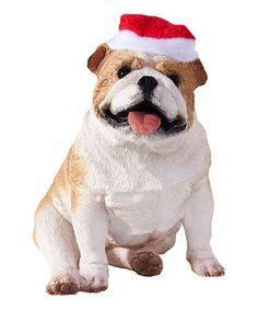Take a look at this Santa Hat Bulldog Ornament by Jillson & Roberts on #zulily today!
