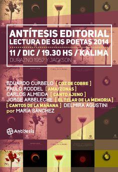 Antítesis Editorial: LECTURA DE POETAS 2014 *Antítesis Editorial*    (f...