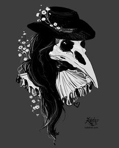 Plague Doctor by Kate Trish , 2016  dark art, gothic, renaissance, illustration, sketch, skull ...
