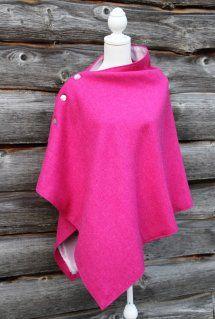 Harriet Hoot Pink Harris Tweed Poncho