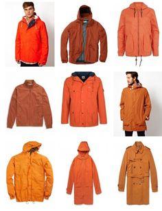 С чем носить оранжевую куртку и оранжевое пальто? Фото