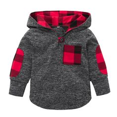 Sunbona Toddler Baby Boys Plaid Hoodie Pocket Pullover Sweatshirt Long Sleeve T Shirt Blouse Outfits Clothes Set (Gray, Fashion Kids, Baby Boy Fashion, Toddler Fashion, Fashion 2016, Fashion Trends, Plaid Hoodie, Pullover Hoodie, Toddler Boy Outfits, Kids Outfits