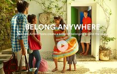 This is quite a welcoming and friendly tone of voice with a funny twist connected in the image.  Advert for airbnb